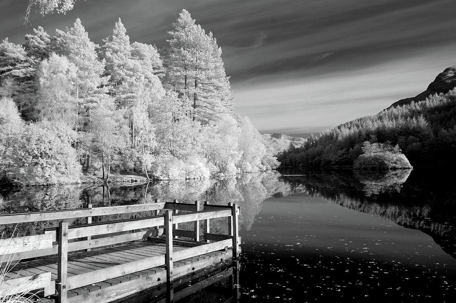 Horizontal Photograph - Infrared Glencoe Lochan by Billy Currie Photography