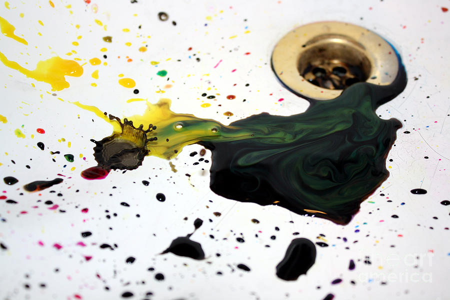 Ink Splash Photograph  - Ink Splash Fine Art Print