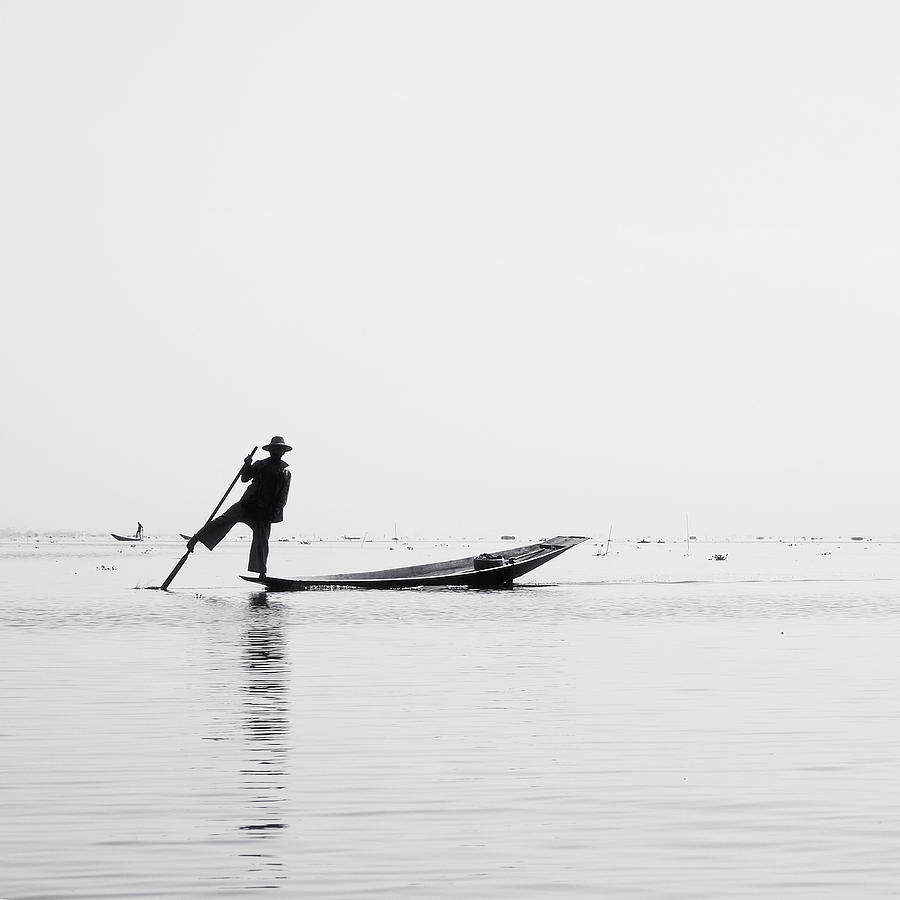 Inle Fisher Photograph  - Inle Fisher Fine Art Print