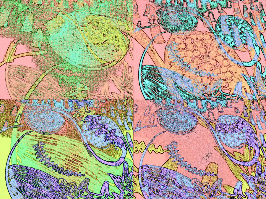 Inner Digital Art - Inner Self - Pink Frequency by Maria Mars