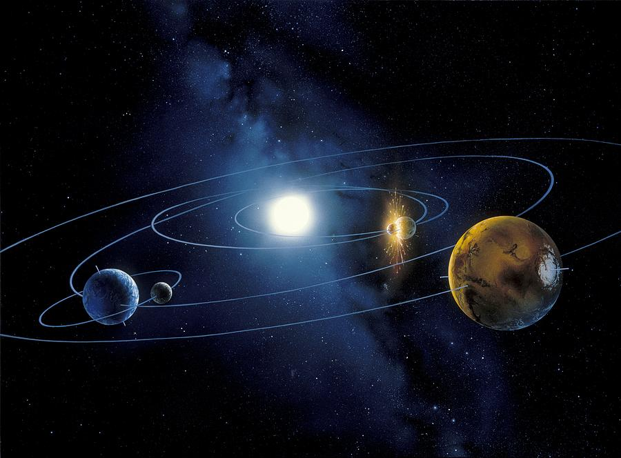 Inner Solar System Planets, Artwork Photograph by Detlev ...