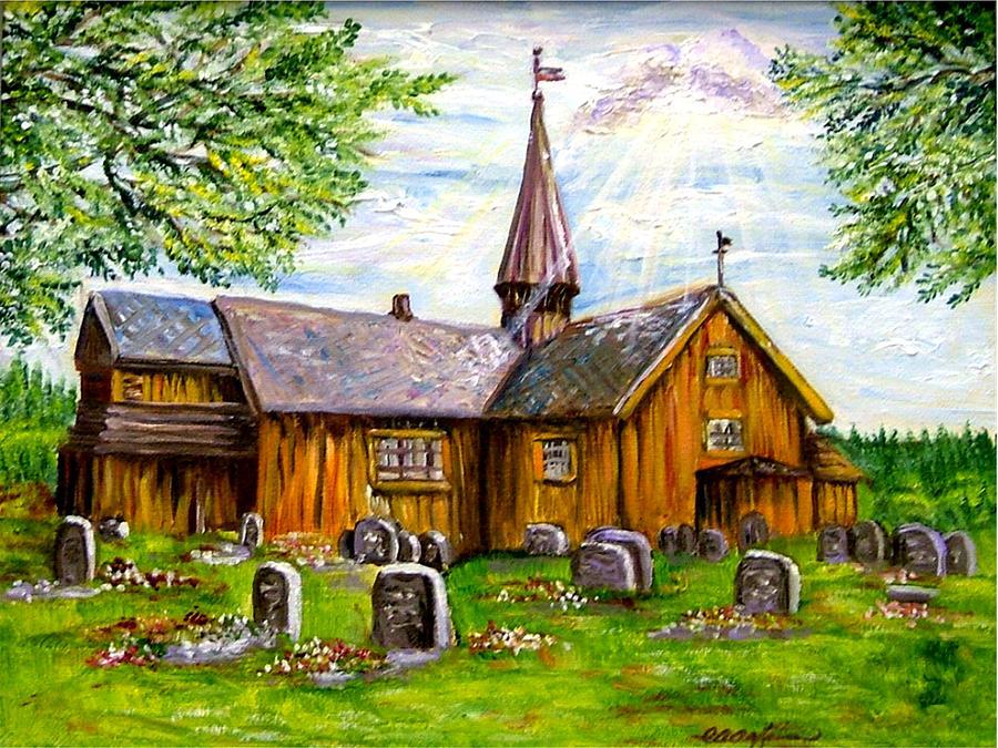Innset Kirke -- Norway Painting