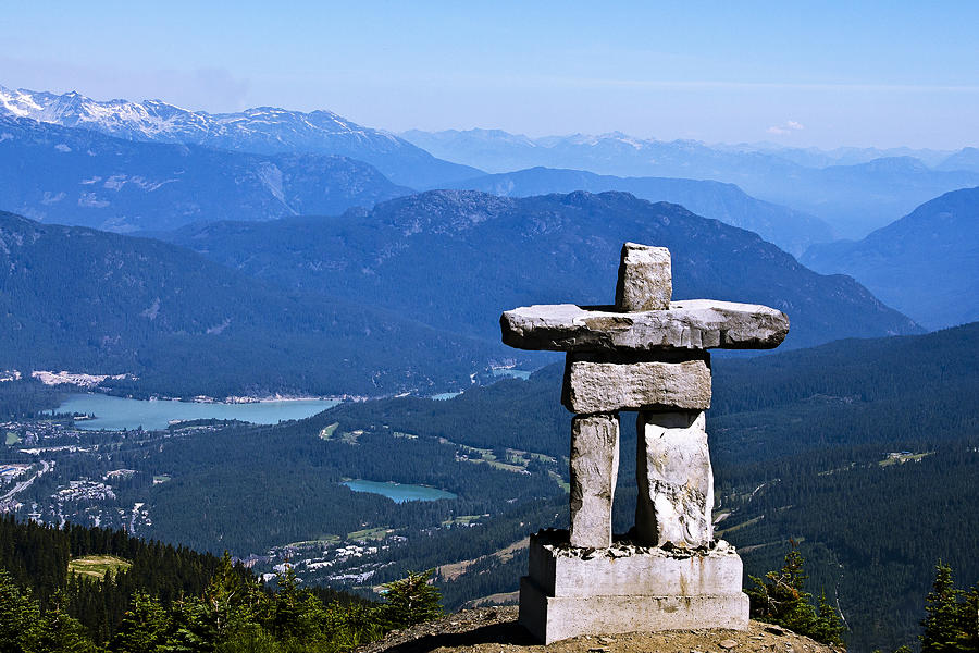 Innukshuk On Whistler Mountain Photograph  - Innukshuk On Whistler Mountain Fine Art Print