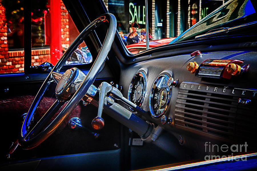 Inside Chevy Digital Art  - Inside Chevy Fine Art Print