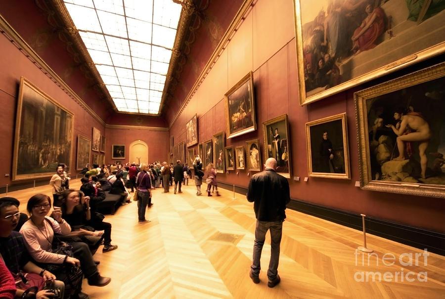 Inside Louvre Museum  Photograph