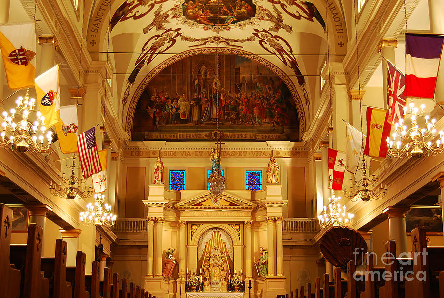 Inside St Louis Cathedral Jackson Square French Quarter New Orleans Photograph