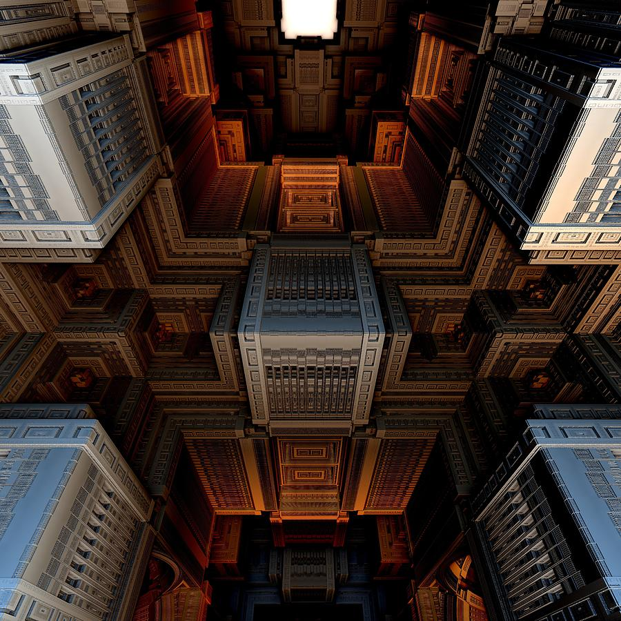 Fractal Digital Art Digital Art - Inside The Box by Ricky Jarnagin