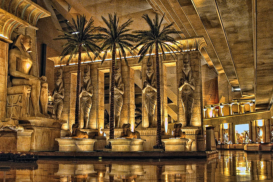 Inside The Luxor Photograph  - Inside The Luxor Fine Art Print