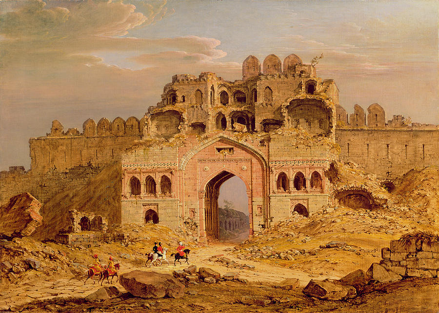 Inside The Main Entrance Of The Purana Qila - Delhi Photograph  - Inside The Main Entrance Of The Purana Qila - Delhi Fine Art Print