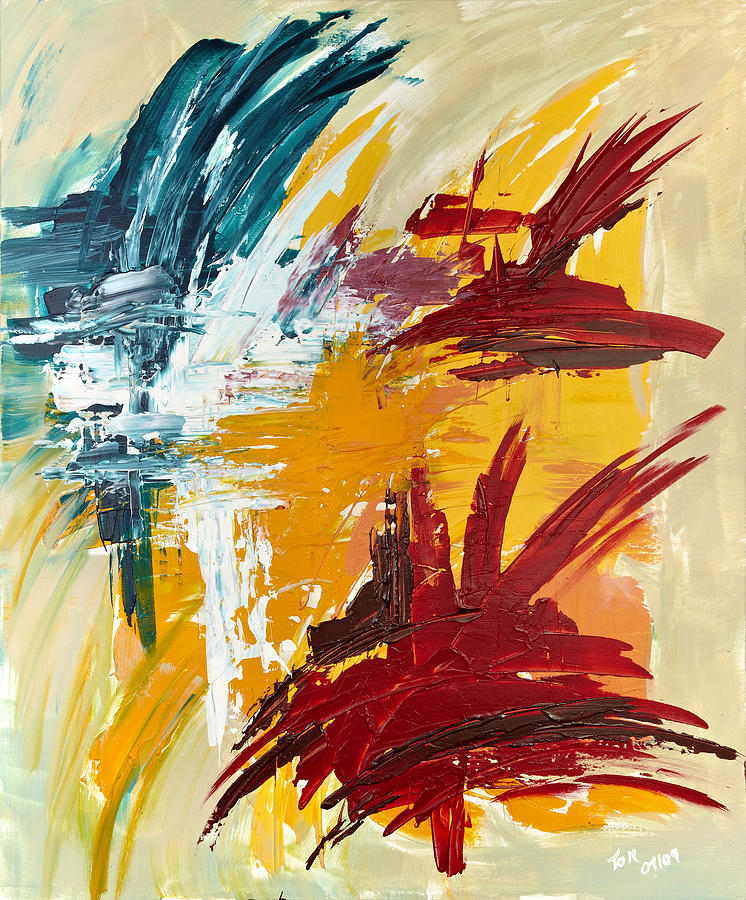 Abstract Art Painting - Inspiration Meese II by Thomas Kleiner