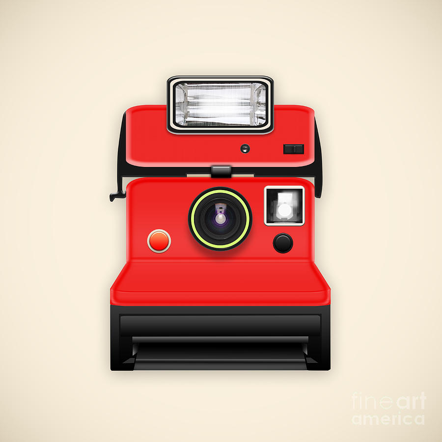 Instant Camera With A Blank Photo Photograph