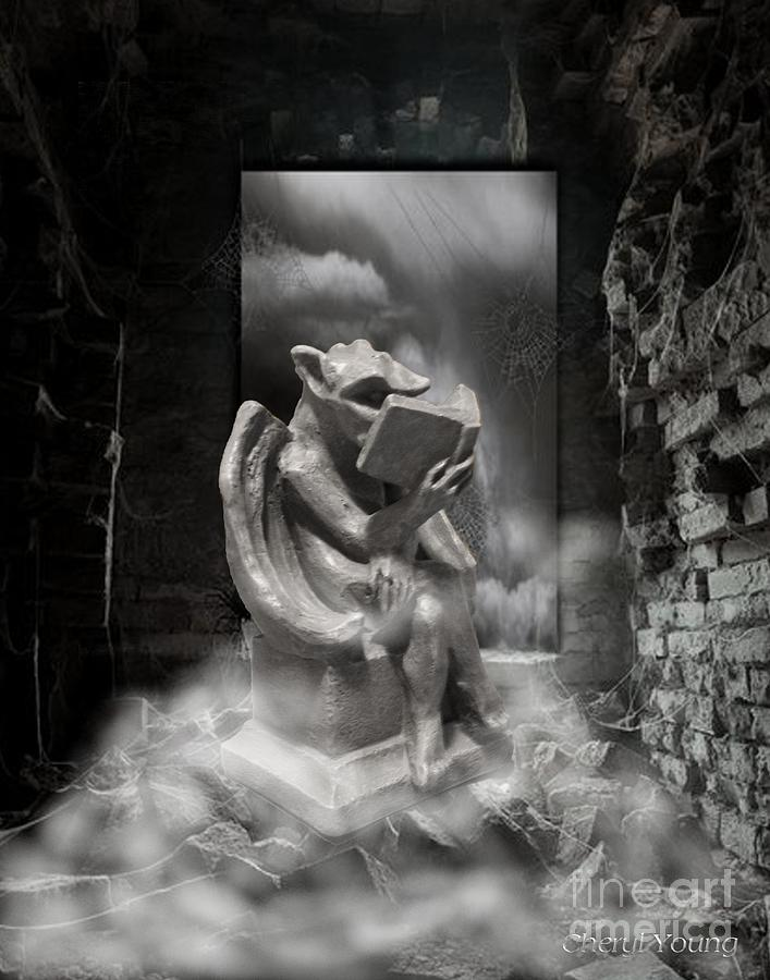Intellectual   Gargoyle Photograph  - Intellectual   Gargoyle Fine Art Print
