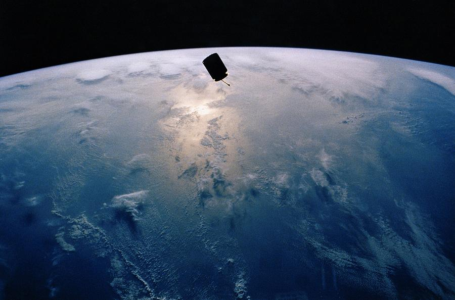 Intelsat Vi, A Communication Satellite Photograph