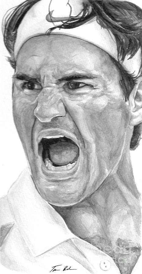 Intensity Federer Painting
