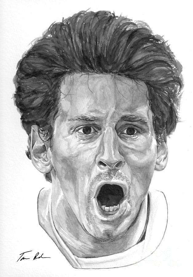 Intensity Lionel Messi Painting  - Intensity Lionel Messi Fine Art Print