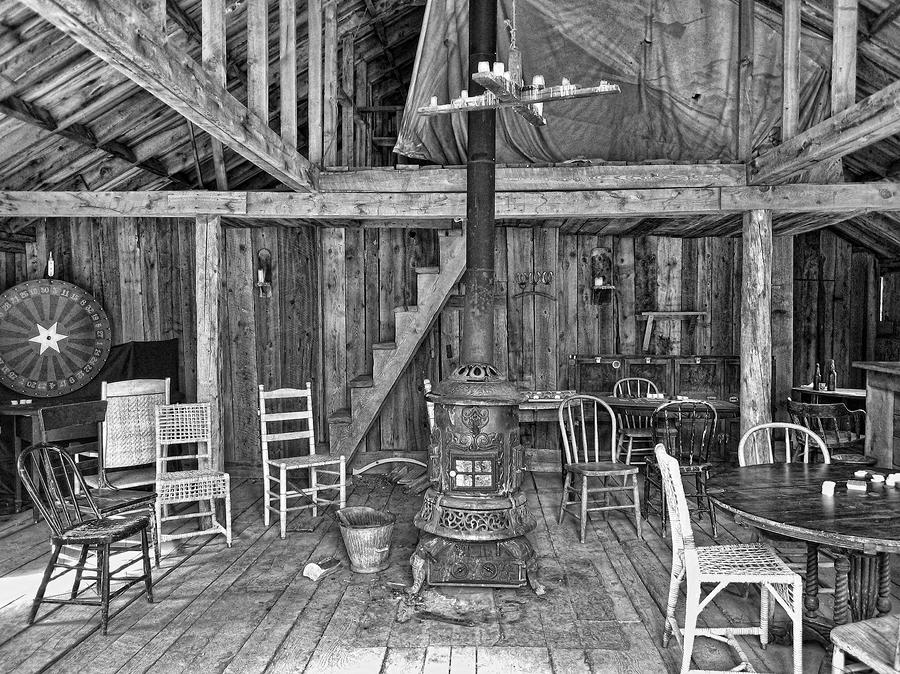 Interior Criterion Hall Saloon - Montana Territory Photograph