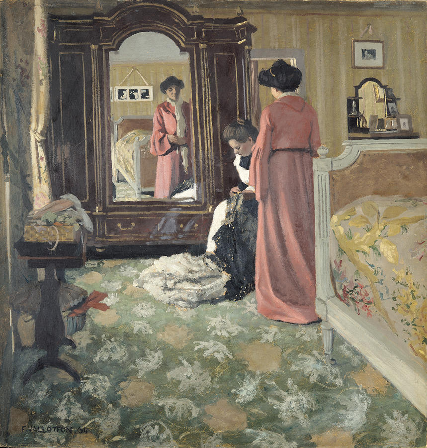 Interior Home Painting With Fine Interior Home Painting: Interior By Felix Edouard Vallotton