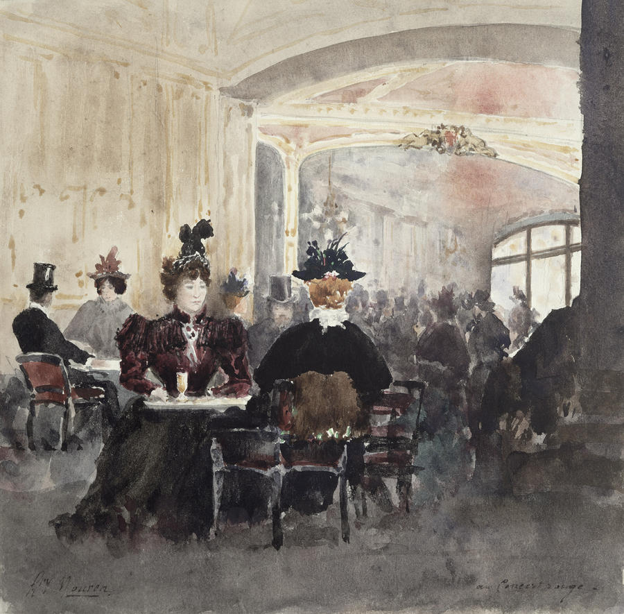 Interior Of The Concert Rouge Painting  - Interior Of The Concert Rouge Fine Art Print