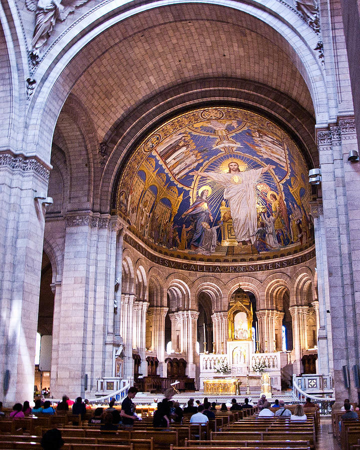 Interior Sacre Coeur Basilica Paris France Photograph