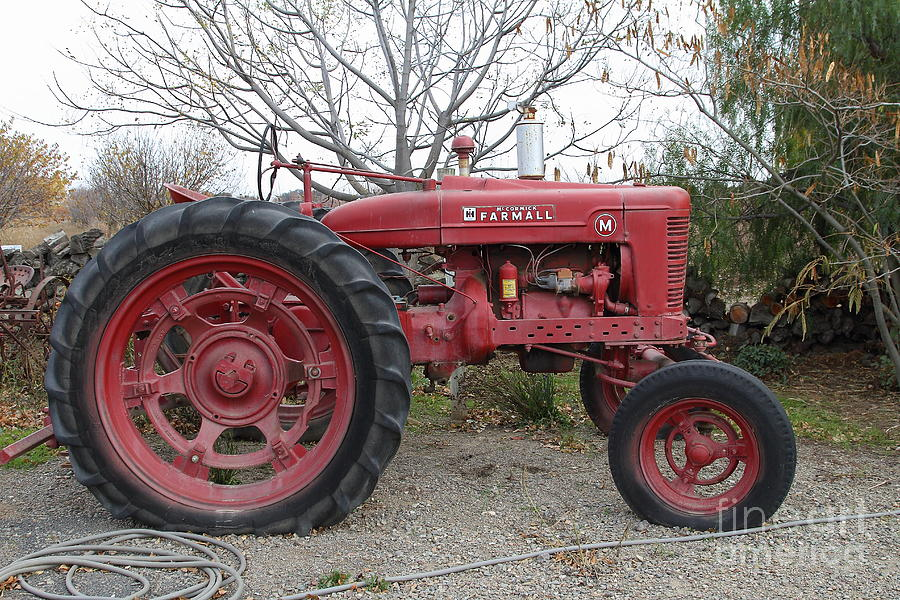 International Harvester Mccormick Farmall Farm Tractor . 7d10320 Photograph  - International Harvester Mccormick Farmall Farm Tractor . 7d10320 Fine Art Print