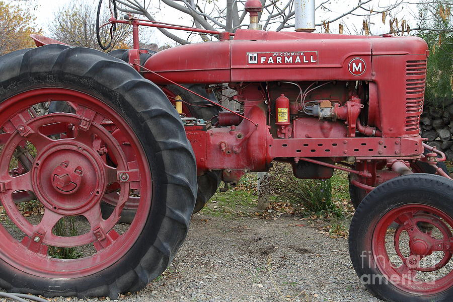 International Harvester Mccormick Farmall Farm Tractor . 7d10323 Photograph  - International Harvester Mccormick Farmall Farm Tractor . 7d10323 Fine Art Print