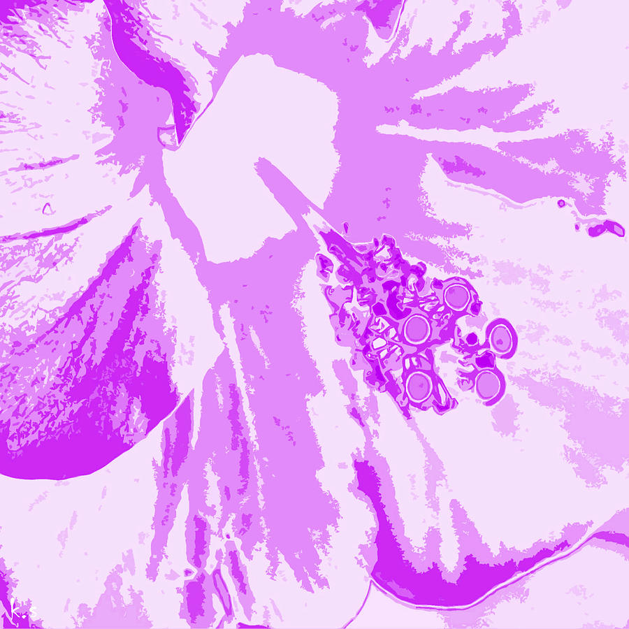 Intimate Purple Digital Art