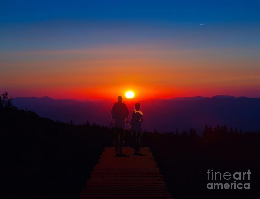 Into The Sunset Together Photograph  - Into The Sunset Together Fine Art Print