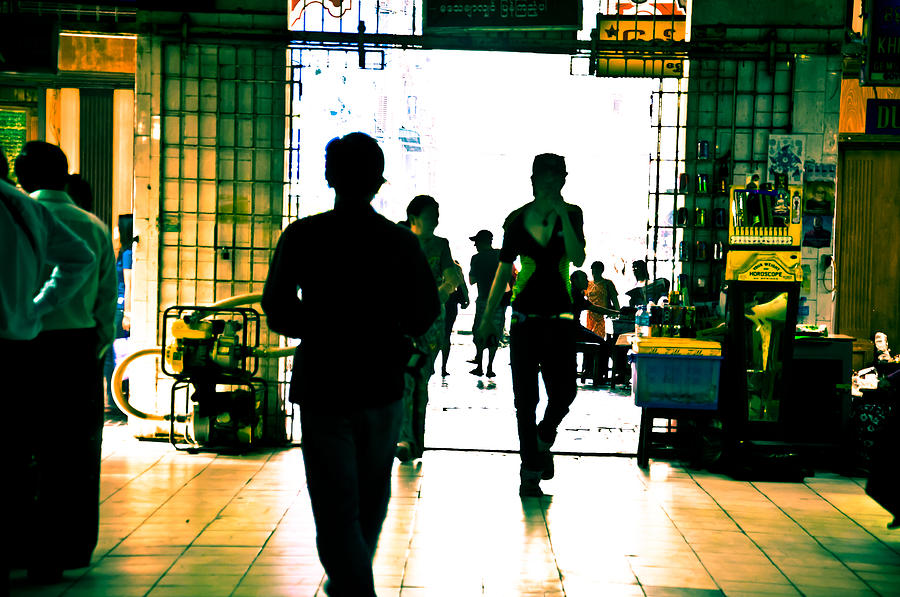 Into The Yangon Market Photograph  - Into The Yangon Market Fine Art Print