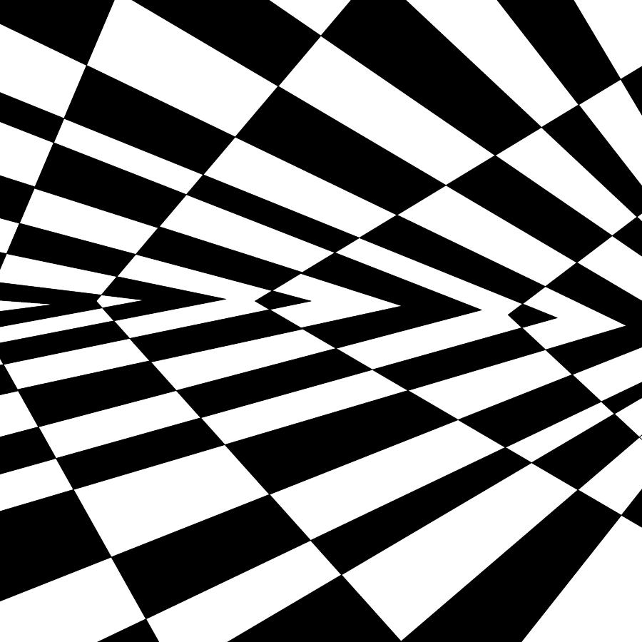 Inverted Wedges Optical Illusion Drawing