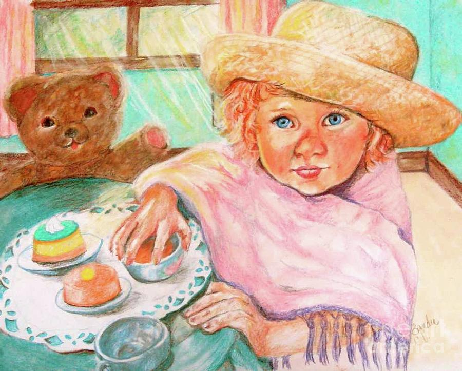 Invitation Only Tea Party Pastel  - Invitation Only Tea Party Fine Art Print