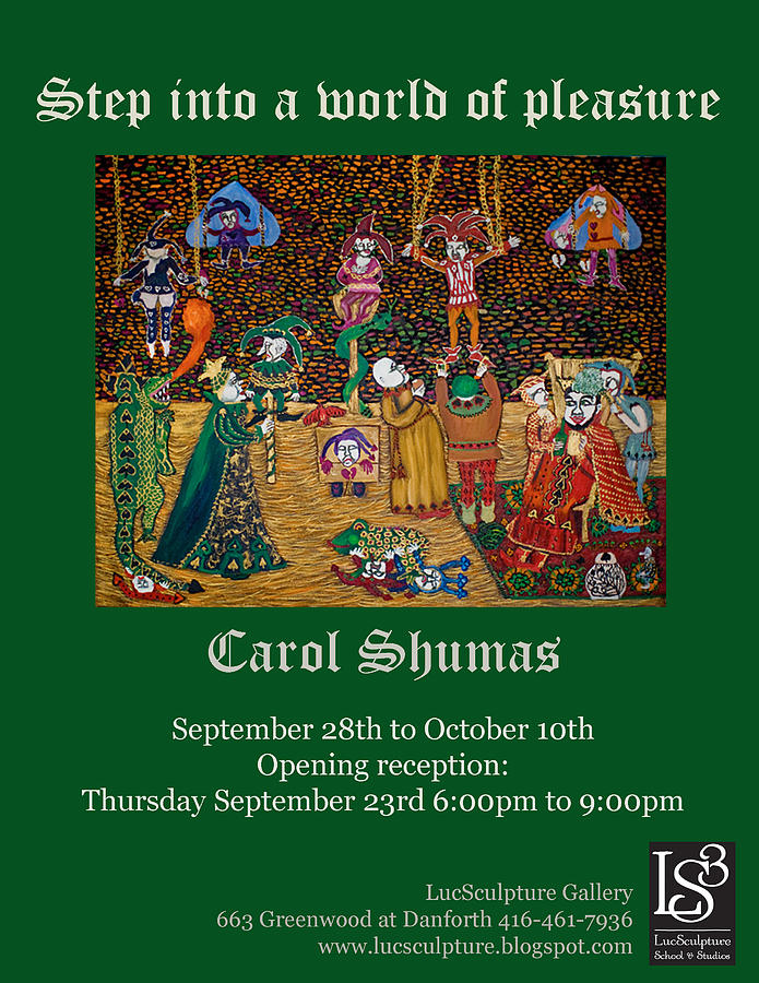 Invitation To Toronto Art Exhibition Painting