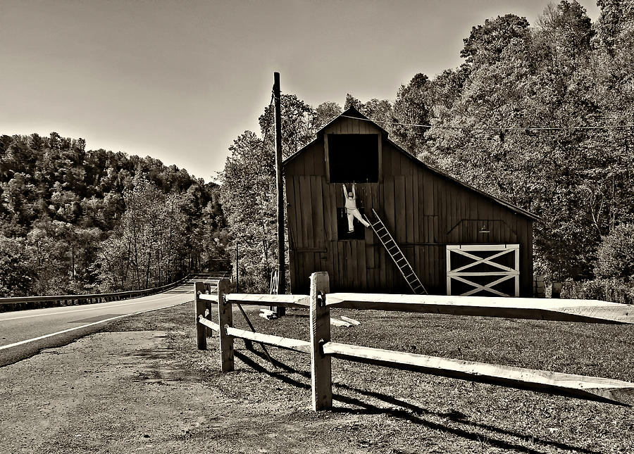 West Virginia Photograph - Involved In Ones Work Sepia by Steve Harrington