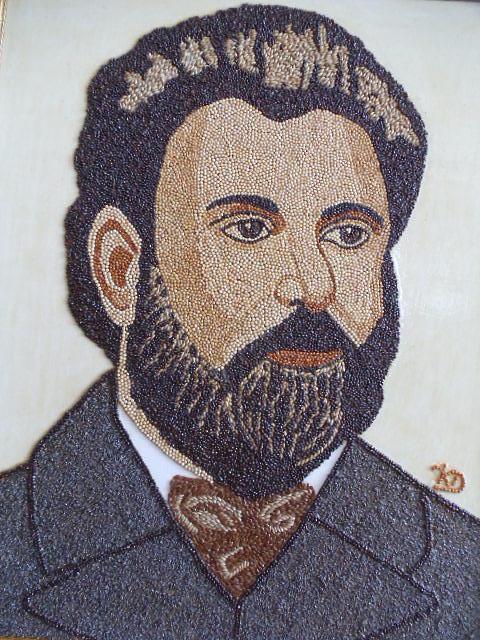 Portrait Painting - Ion Creanga by Kovats Daniela