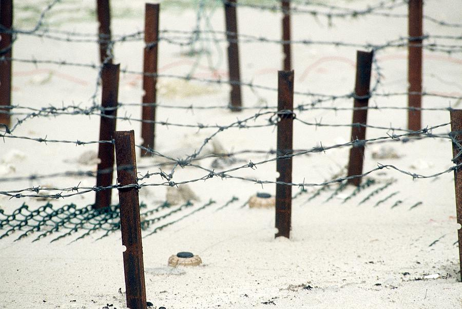 Iraqi Anti-personnel Mines And Barbed Photograph