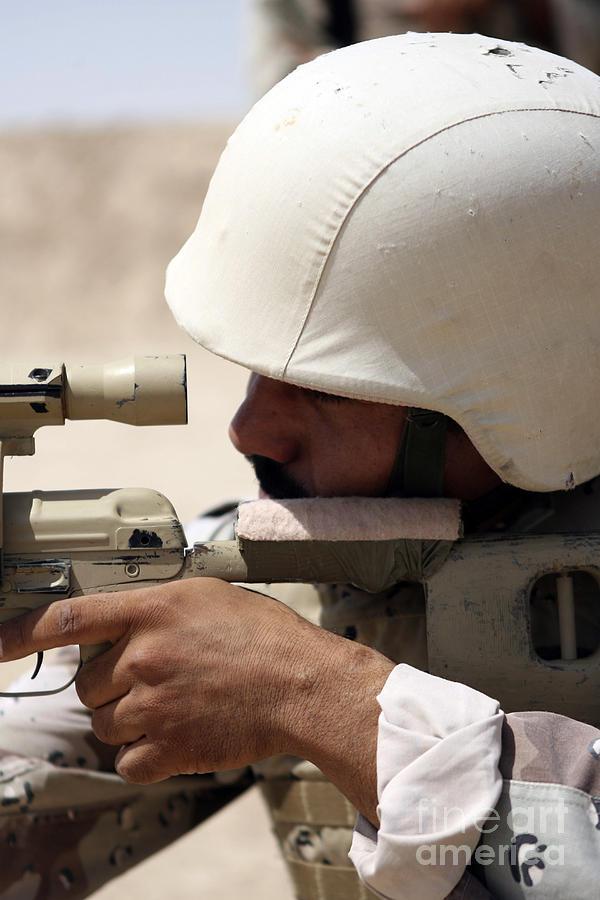 Iraqi Army Sergeant Sights Photograph