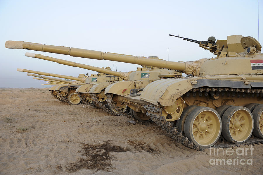 Iraqi T-72 Tanks From Iraqi Army Photograph  - Iraqi T-72 Tanks From Iraqi Army Fine Art Print