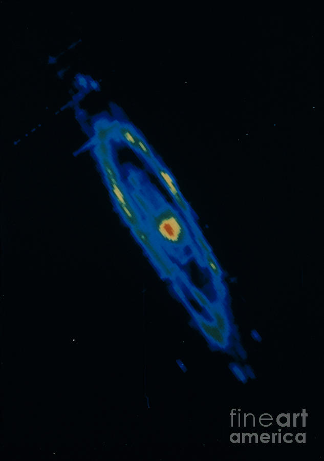 Iras Infrared Image Of The Andromeda Photograph