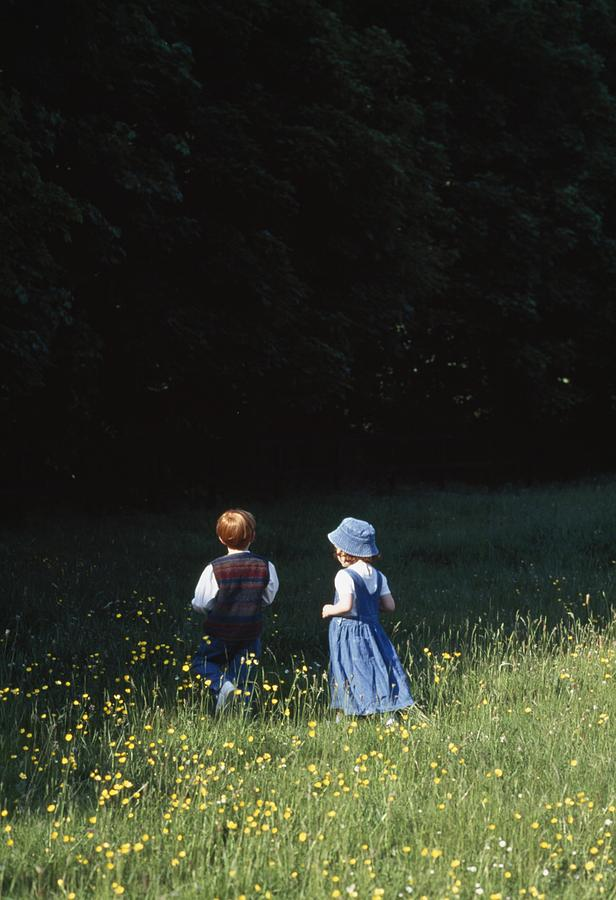 Ireland Children In A Field Photograph