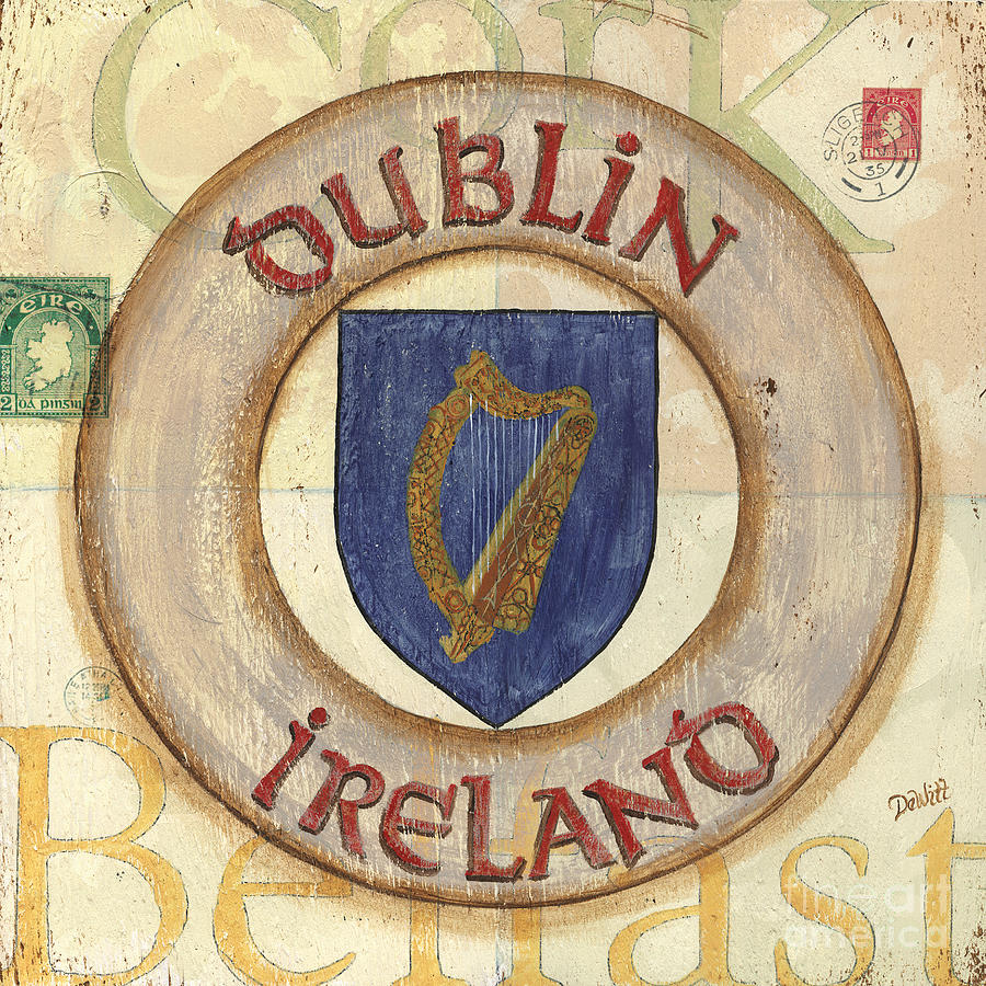 Ireland Coat Of Arms Painting  - Ireland Coat Of Arms Fine Art Print