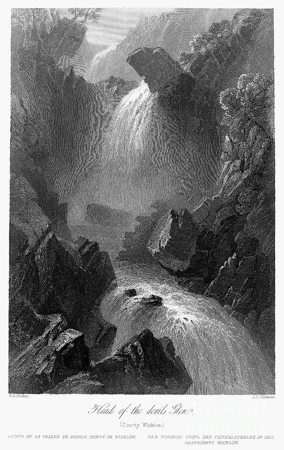 Ireland: Devils Glen, C1840 Photograph