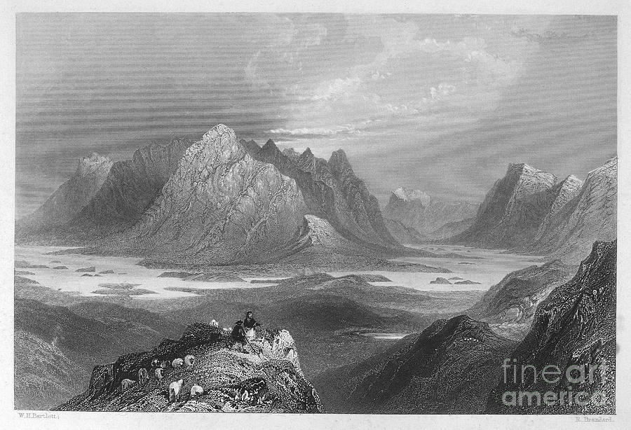 Ireland: Lough Inagh, C1840 Photograph  - Ireland: Lough Inagh, C1840 Fine Art Print