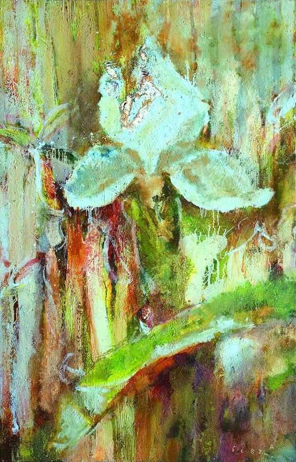 Iris 27 Blue Painting