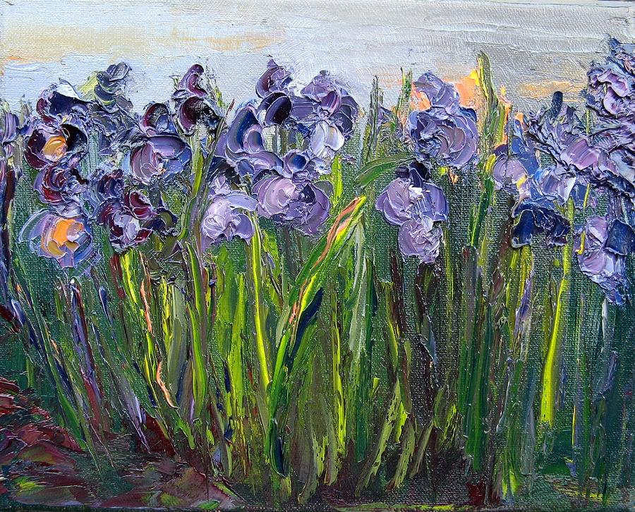 Iris Flower Painting Iris Flower Paintings