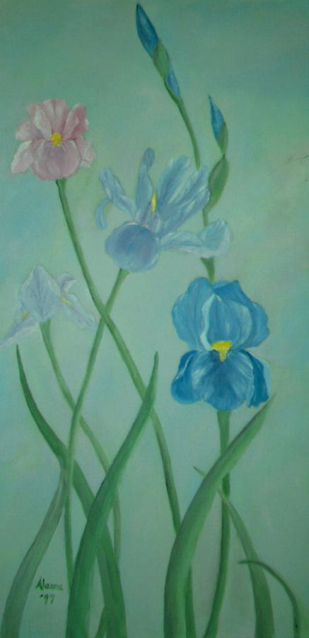 Iris Dreams Painting  - Iris Dreams Fine Art Print