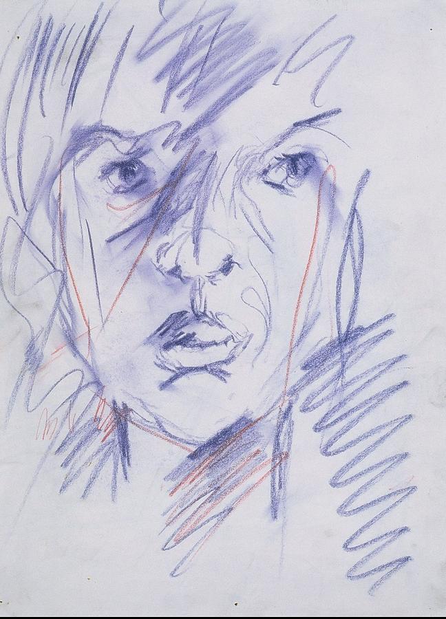 Woman Drawing - Iris Gill 1 by Iris Gill