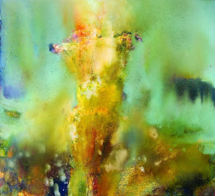 Iris Painting - Iris Radiance by Petro Bevza