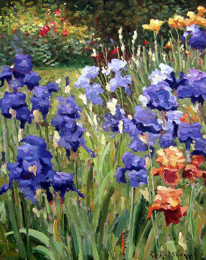 Irises In The Sun Painting