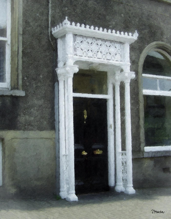 Irish Solicitors Door Painting  - Irish Solicitors Door Fine Art Print