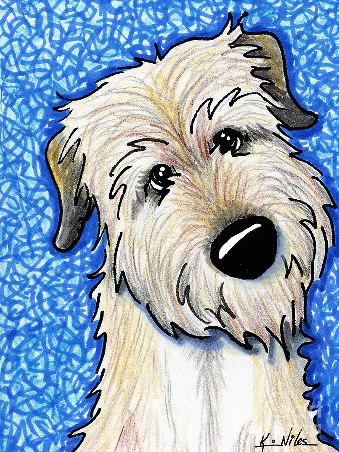 Irish Wolfhound Drawing  - Irish Wolfhound Fine Art Print
