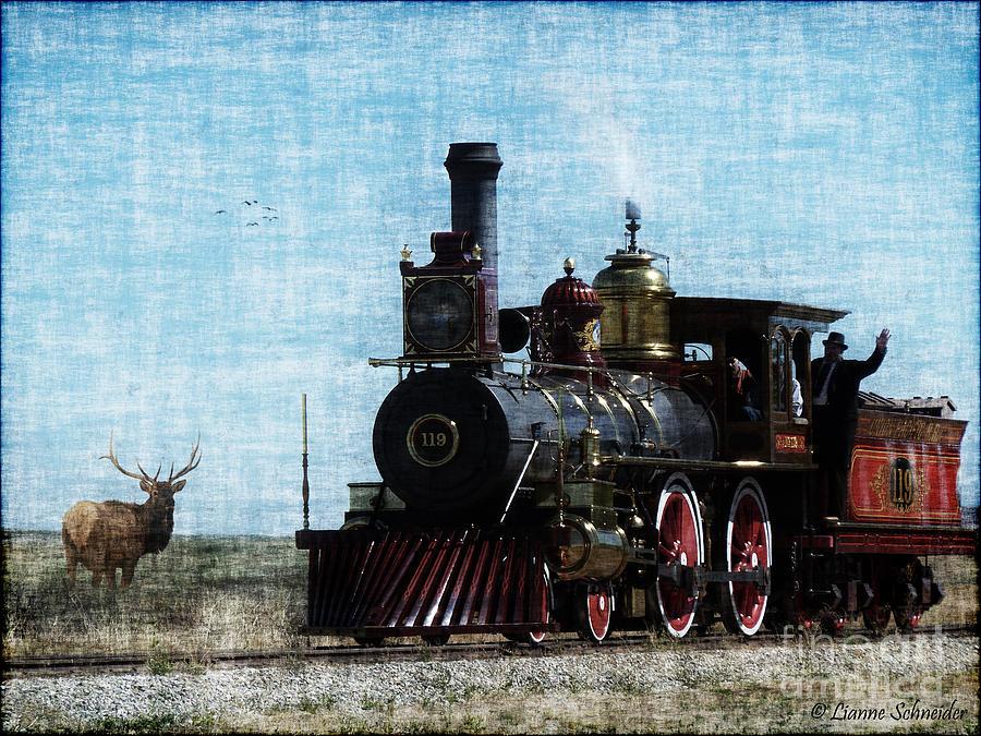 Iron Horse Invades The Plains Photograph